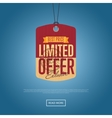Limited offer isolated sale sticker vector image