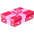 pink gift box vector image