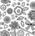 Seamless pattern with lace diamonds flowers leaves vector image