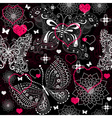 Seamless valentine floral pattern vector image