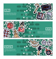 set of horizontal banners about old age vector image