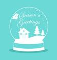 snow globe for christmas theme vector image