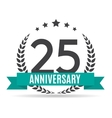 Template Logo 25 Years Anniversary vector image