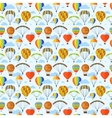 Ballon aerostat transport set vector image
