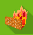 firewall icon in flat style isolated on white vector image