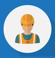 of profession symbol on worker vector image