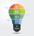 Modern Design light Minimal style infographic temp vector image