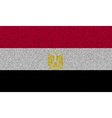 Flags Egypt on denim texture vector image