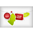 christmas hanging badges vector image vector image