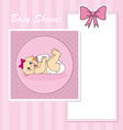 Baby girl arrival vector image vector image