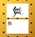 love you heart lettering brush vector image vector image