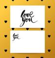 love you heart lettering brush vector image