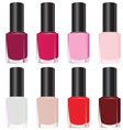 Set nail polish vector