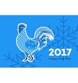 Abstract Fiery Rooster Symbol Of 2017 New Year On vector image