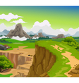 beauty cliff with mountain landscape background vector image