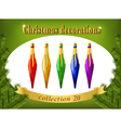 Christmas ornaments Collection of decorative vector image
