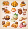 Colorful traditional mexican desserts vector image