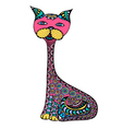 Cute doodle cat vector image