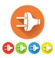 electric plug symbol vector image