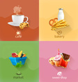 Food concepts set vector image