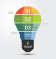 Modern Design light Minimal style infographic temp vector image