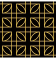 Seamless geometric pattern Gold vector image