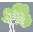 Tree banner with the copy space - simple design vector image