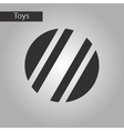 black and white style toy ball vector image