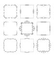 Vintage calligraphic square frame set vector image