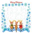 dancing deers vector image