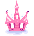 Pink princess sky Castle vector image vector image