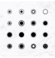 Sun logos set vector image