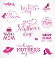 Mothers Day Design Elements for Greeting Cards vector image vector image