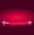 glow light wave or light aura on red bokeh vector image