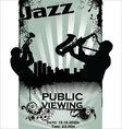 Jazz musician silhouettes vector image