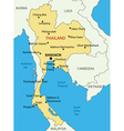 Kingdom of Thailand - map vector image