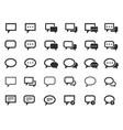message speech bubbles talk icons vector image