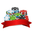 online casino winner background poker vector image