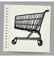 Scribble shopping cart vector image