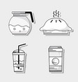 set delicious coffe with differents taste vector image
