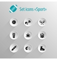 Set of flat black icon sport vector image