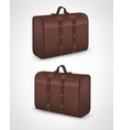 Suitcase for traveling on isolated background vector image