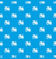 toy train pattern seamless blue vector image