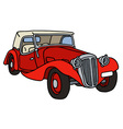 Vintage red cabriolet vector image