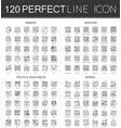 120 outline mini concept infographic symbol icons vector image