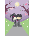 Cute Happy Couple They are not alone from now on vector image