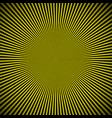 black yellow burst background vector image