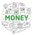 line flat circle money vector image