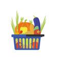 vegetable shop basket flat style vector image