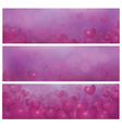pink banners vector image vector image